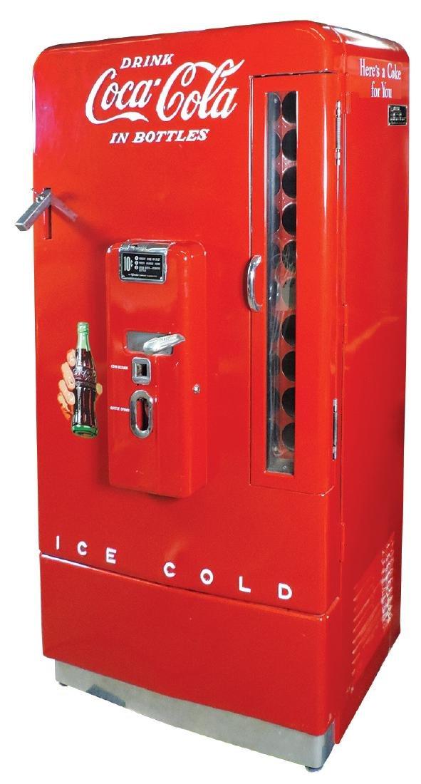 Coca-Cola vending machine, 10 Cent, Vendo Model H-110,