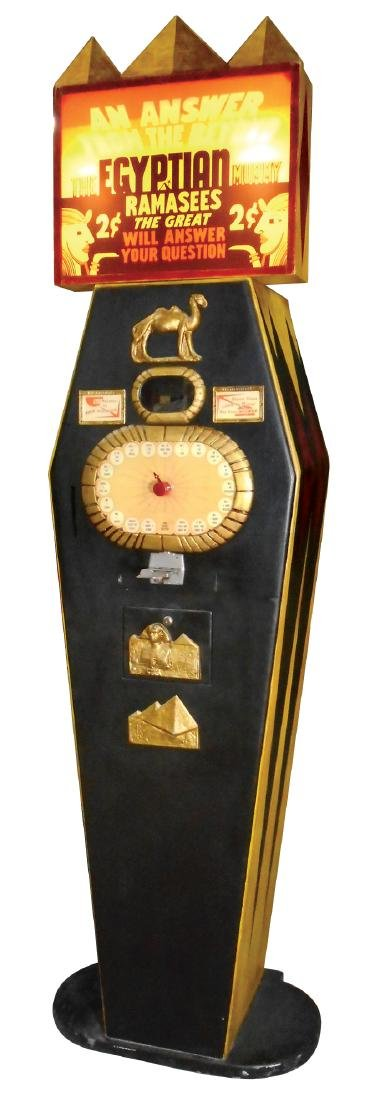 """Coin-operated arcade fortune teller, """"The Egyptian"""