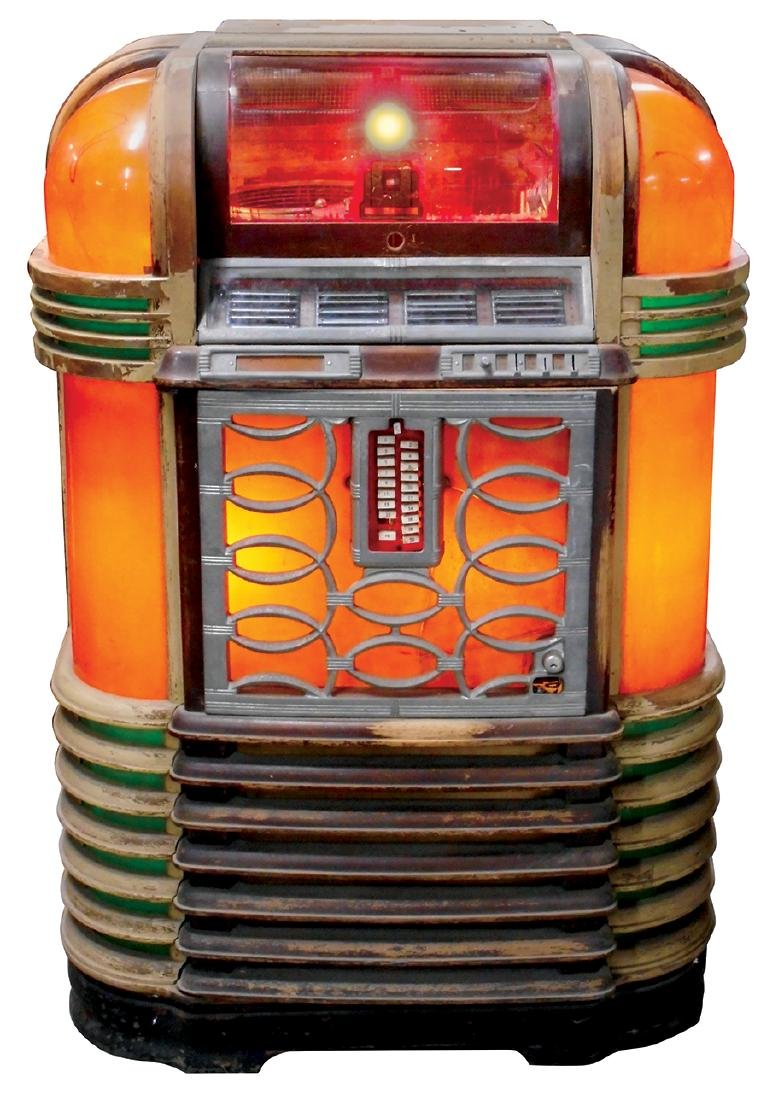 "Coin-operated jukebox, Rockola Luxury Lightup, in ""As"