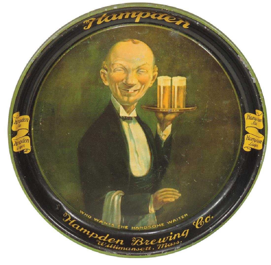 Breweriana tray, Hampden Brewing Co.-Willimansett,