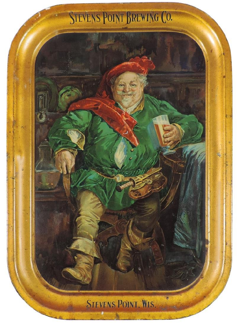 Breweriana tray, Stevens Point Brewing Co.-Stevens