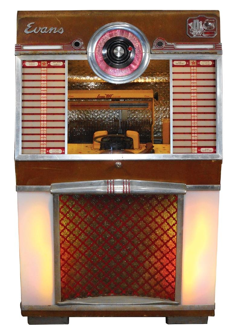 "Coin-operated jukebox, H.C. Evans ""Holiday"", Model 4045"