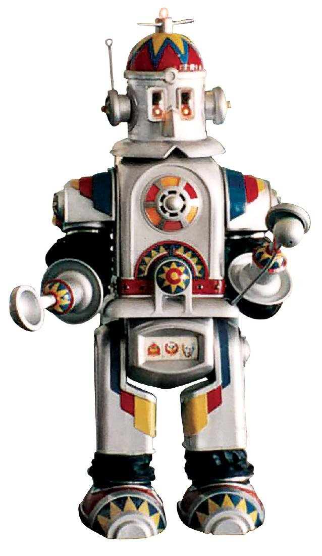 Amusement park robot, electro-mechanical multi function