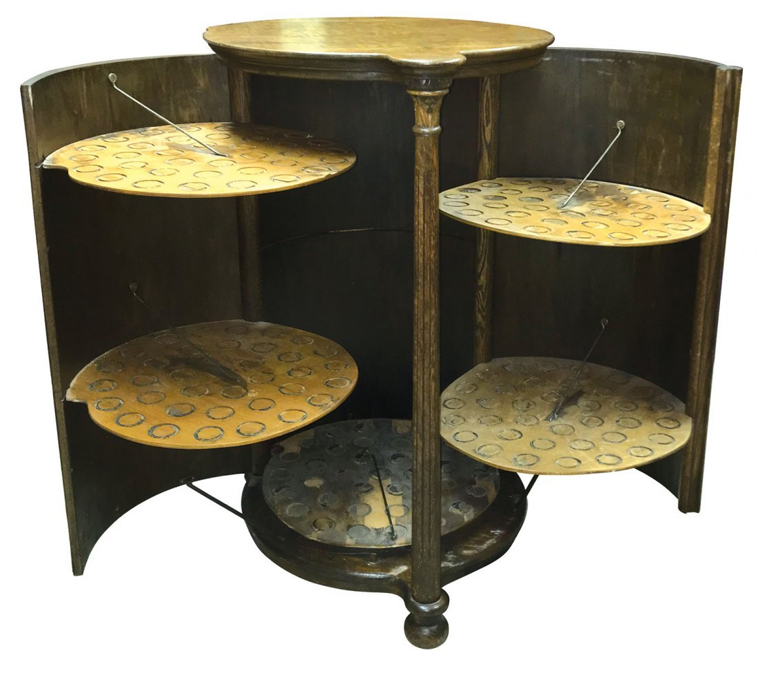 Music, cylinder record cabinet, Rare cylindrical shaped - 2