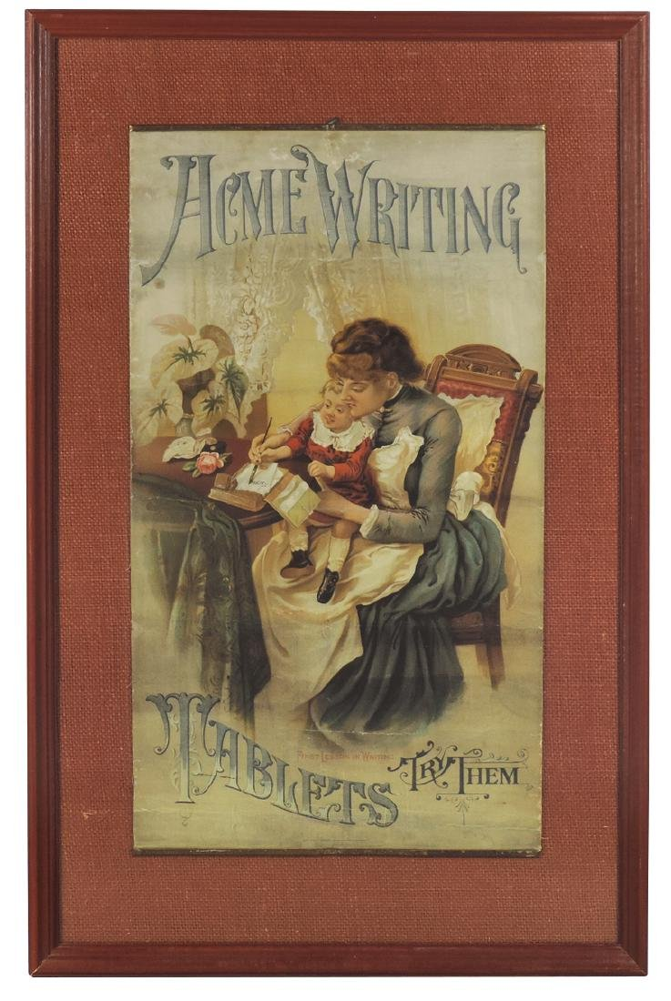 Advertising sign, Acme Writing Tablets, by Acme