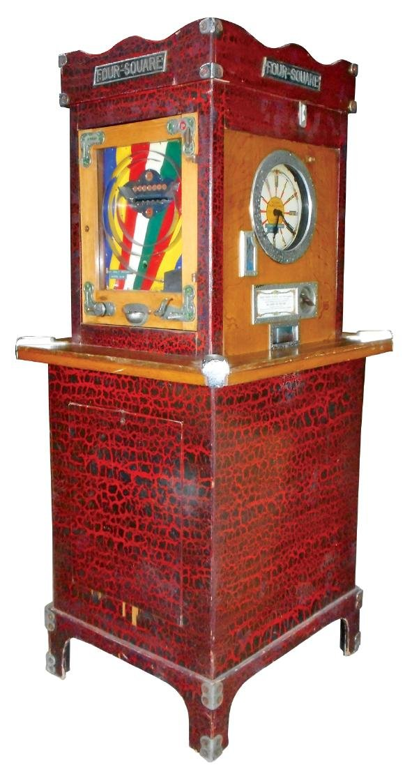 "Coin-operated arcade skill game ""Four Square"", take"