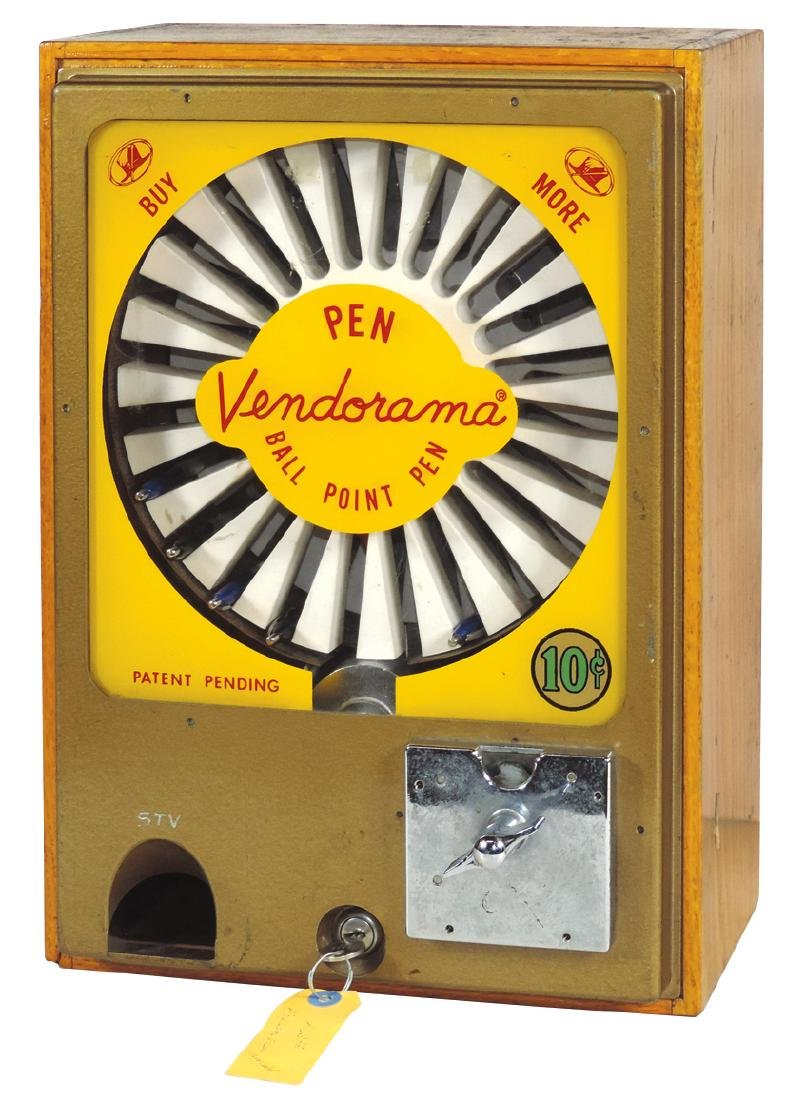 Coin-operated Vendorama Ball Point Pen vendor,