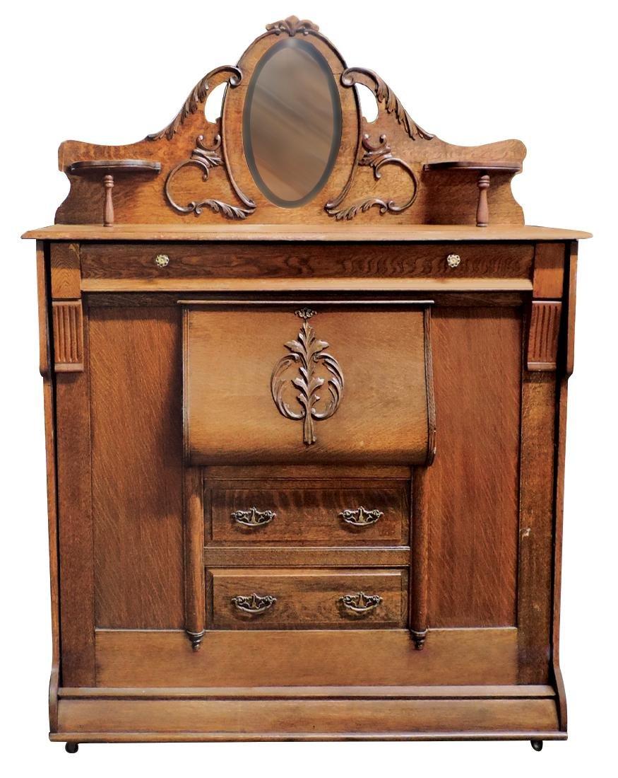 Furniture, Murphy Bed, full-sized quartersawn oak