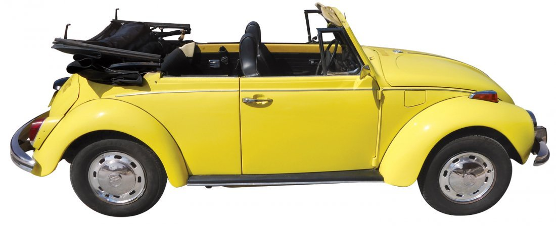 Automobile, 1972 Volkswagen convertible, new top & - 2