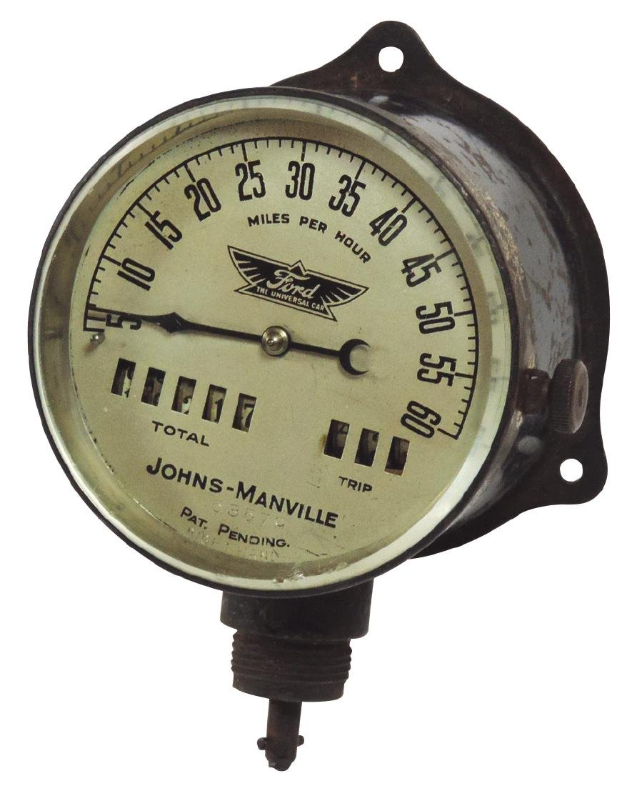 Automobile Ford Model T Johns-Manville speedometer,