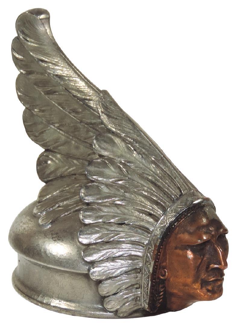 Automobile radiator cover hood ornament, Rare Pontiac