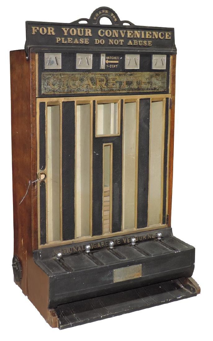 Coin-operated cigarette machine, National Sales Machine