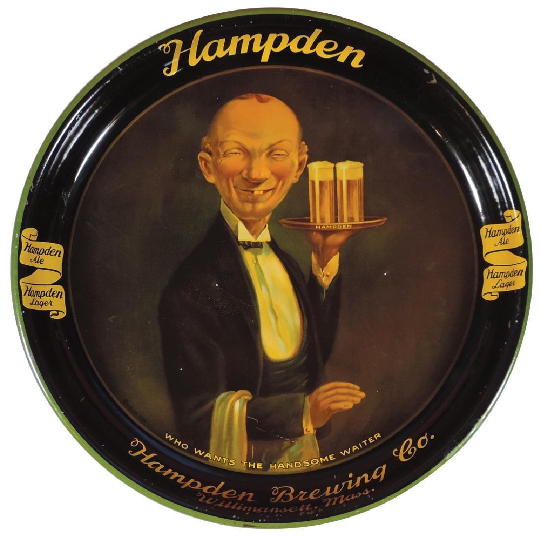 Breweriana serving tray, Hampden Brewing