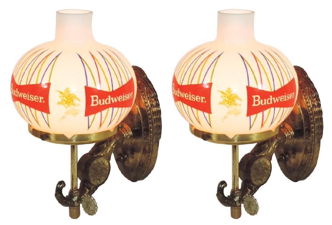 Breweriana lights (4), Anheuser-Busch Budweiser wall