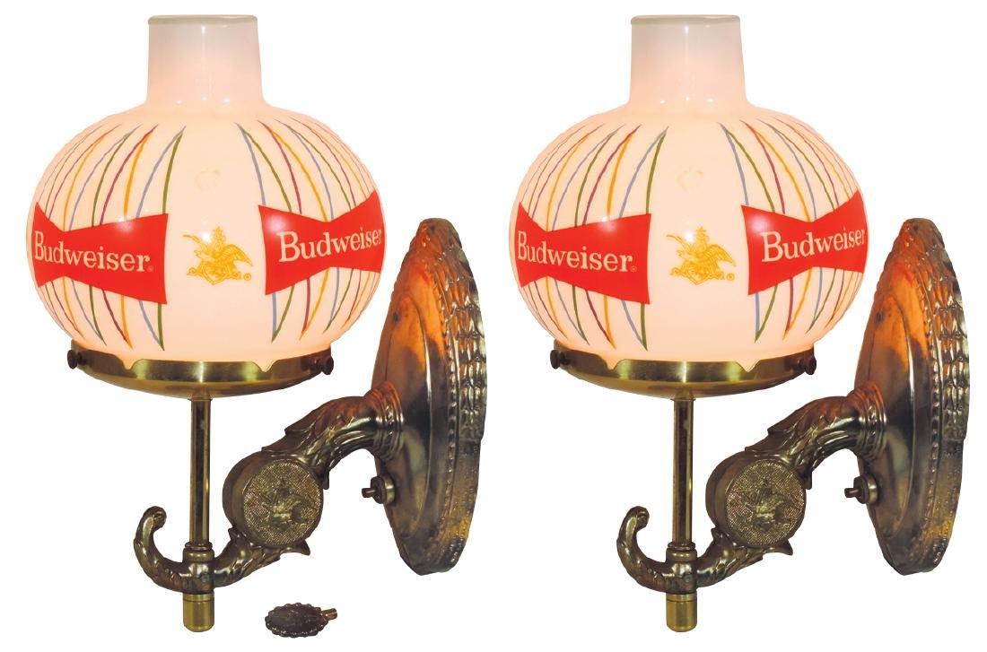 Breweriana lights (4), Anheuser-Busch Budweiser wall - 2