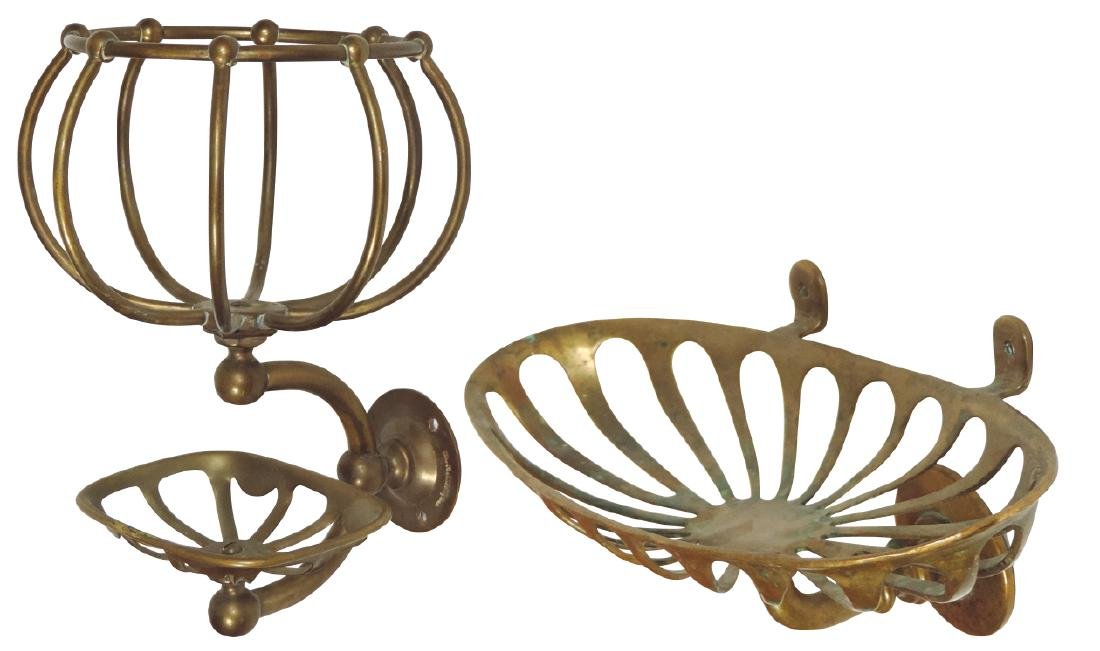 Architectural Victorian hardware, solid brass toiletry