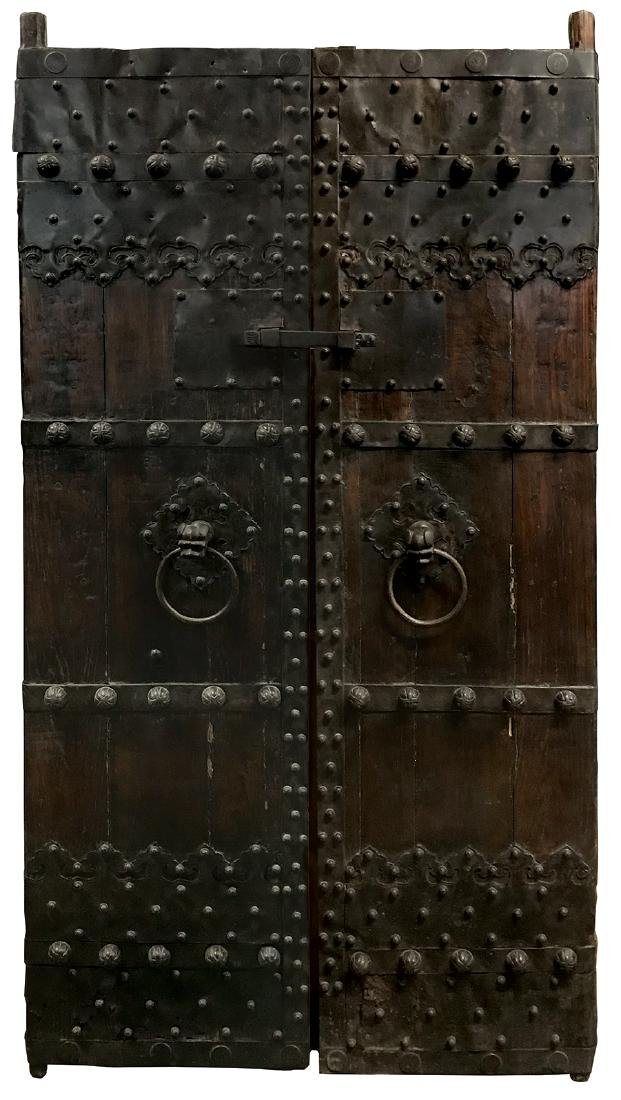 Architectural doors (2), handmade massive double entry