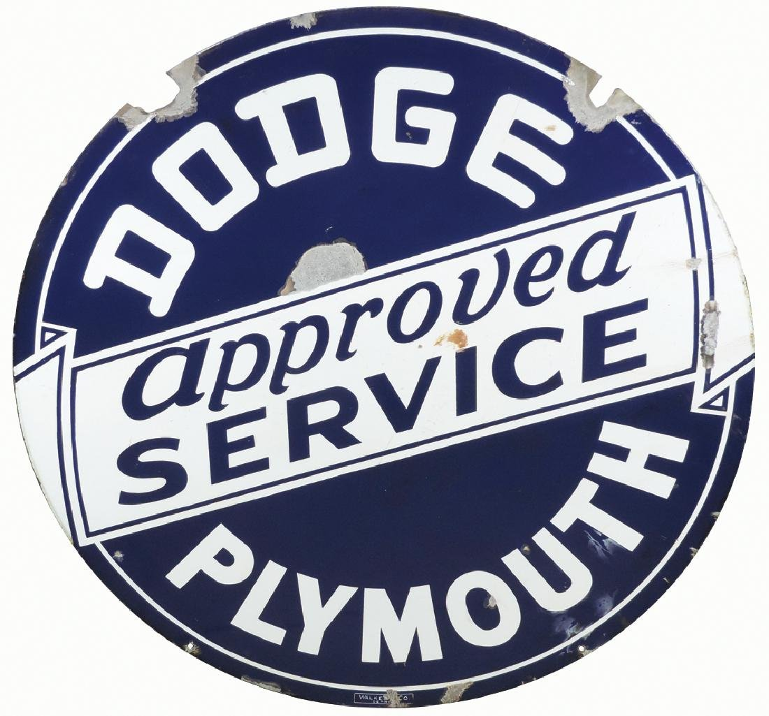 Automobile dealer sign, Dodge Plymouth Approved - 2