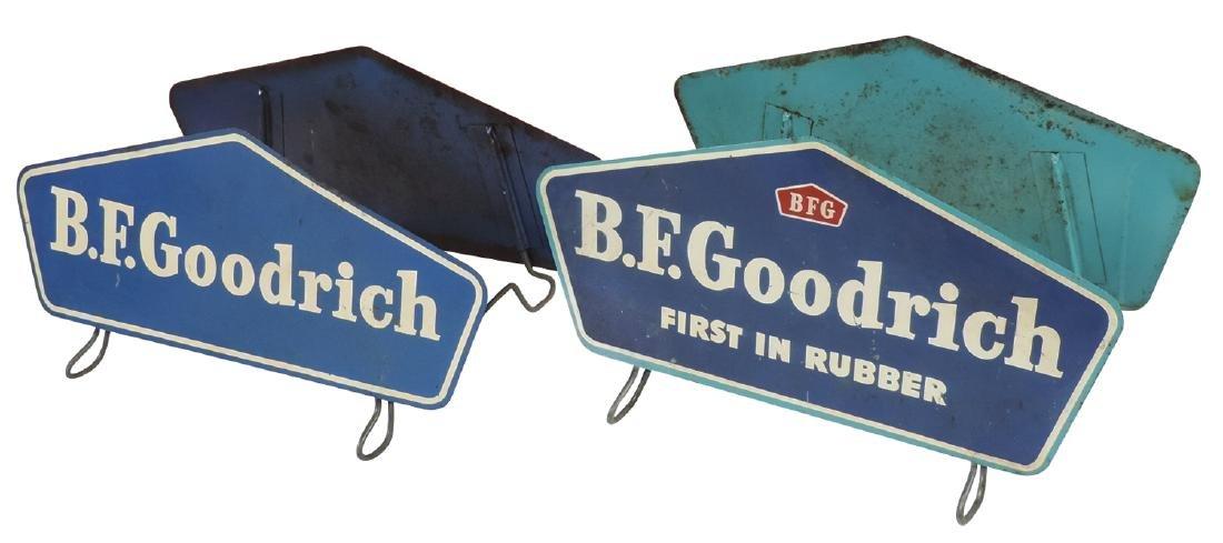 Automobile tire displays (2), both B.F. Goodrich,
