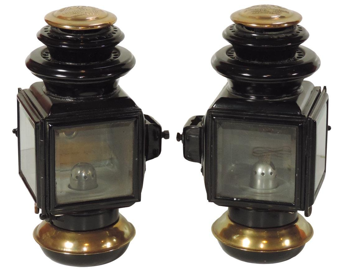 Automobile Ford Model T head or side lamps (2), matched