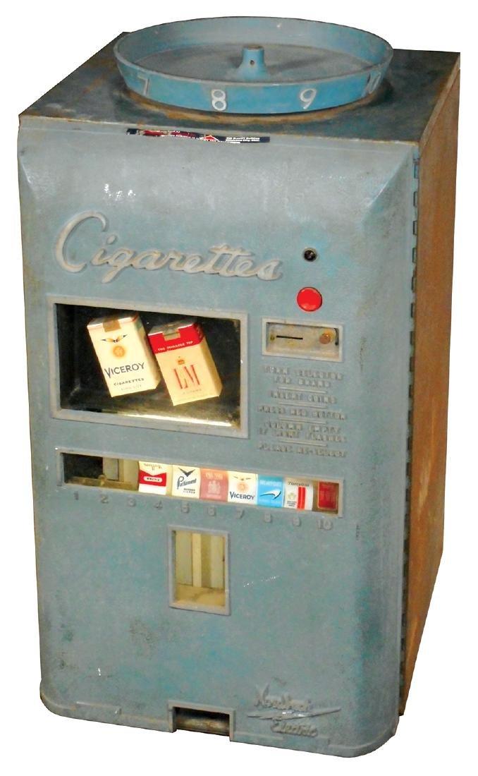 Coin-operated cigarette machine, Nordbach Electric, 10