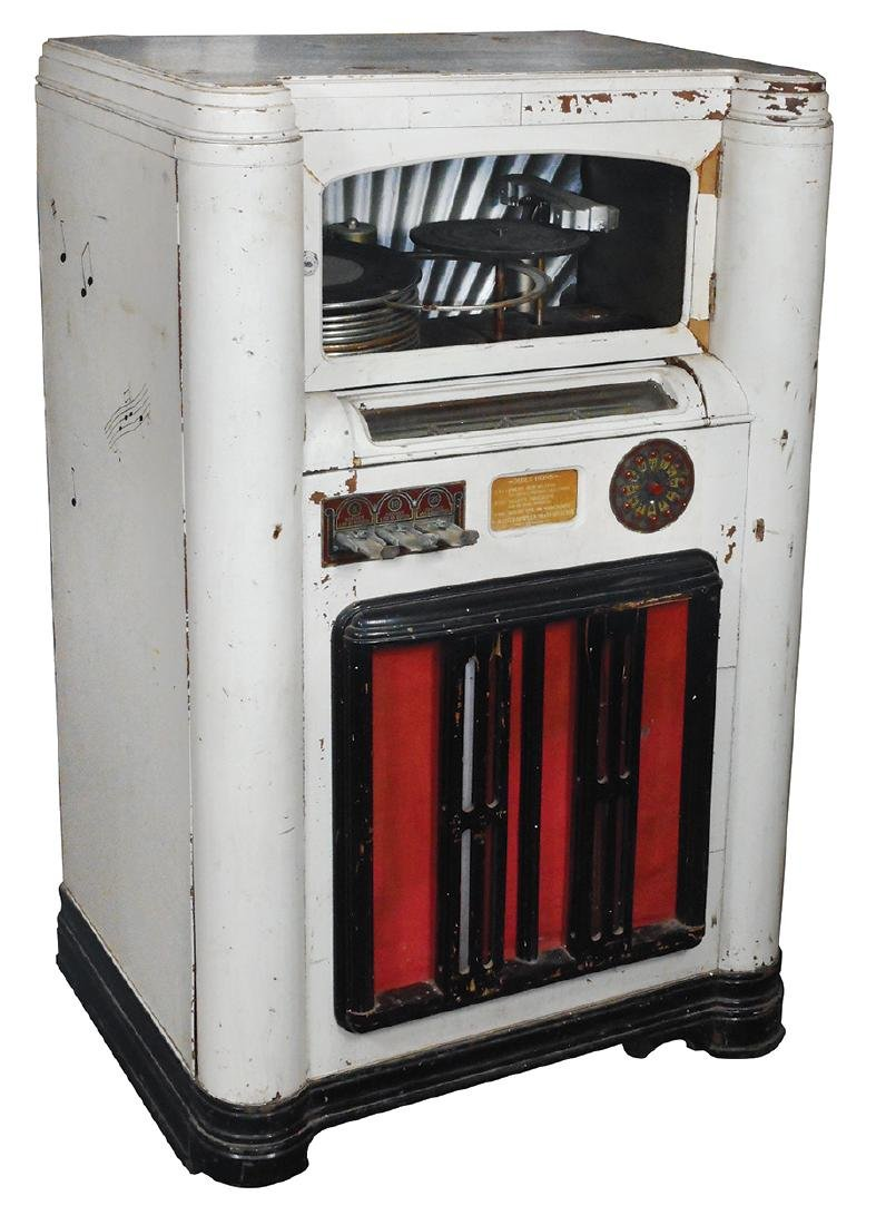 Coin-operated jukebox, Wurlitzer 412 w/aftermarket