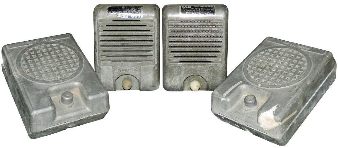 Drive-in speakers (4), all cast metal, 2 Simplex & 2