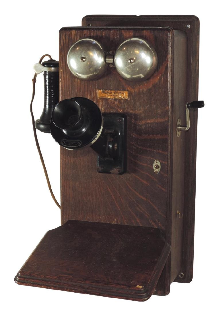 Telephone, wall mounted Western Electric w/shelf, pat'd