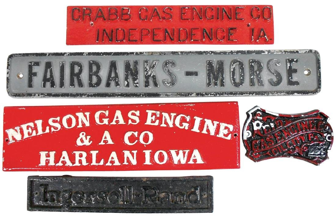 Industrial machine identification tags (5), Nelson Gas