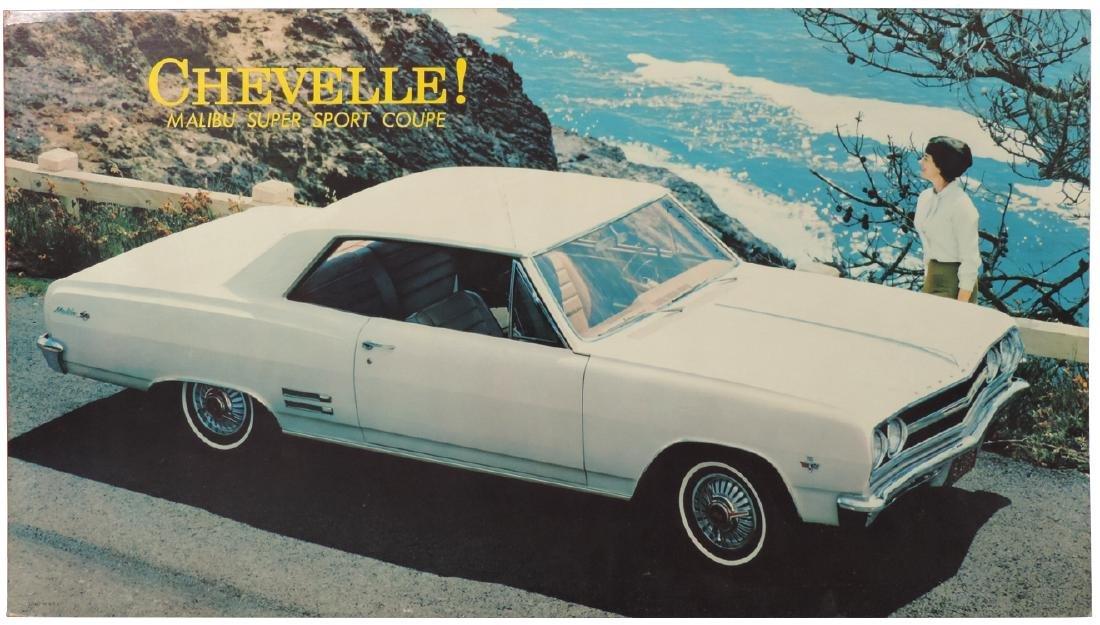 Automobile dealership  sign, Chevelle Malibu Super