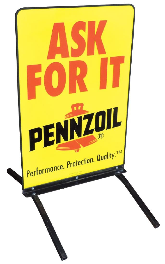 Petroliana sign, Pennzoil Street Talker Curb Stand,