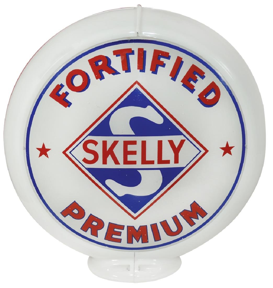 Gasoline globe, Skelly Fortified Premium & Skelly