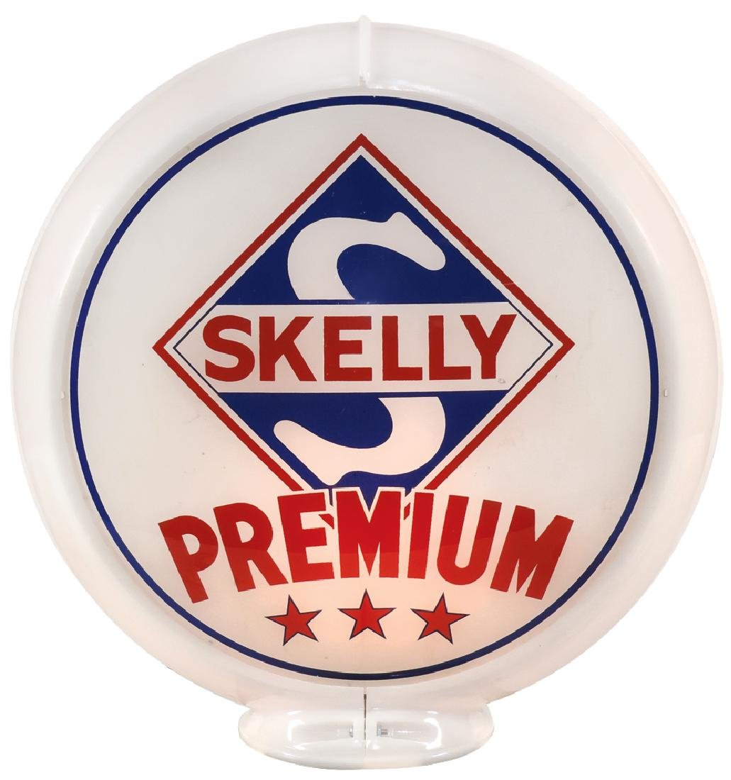 Gasoline globe, Skelly Fortified Premium & Skelly - 2