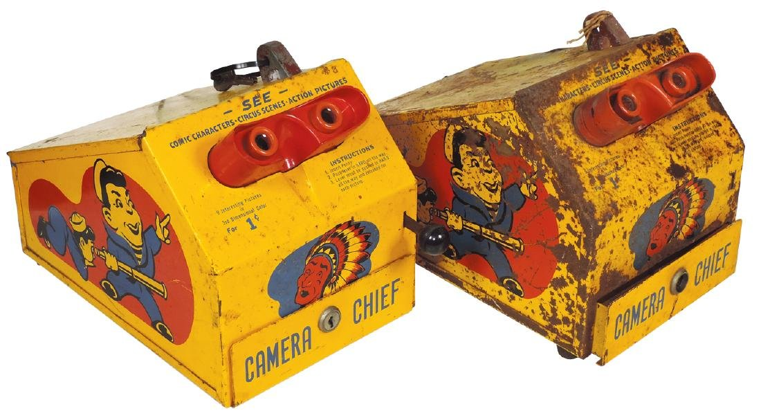 Coin-operated Camera Chief Viewers (2), c.1940, Act I &