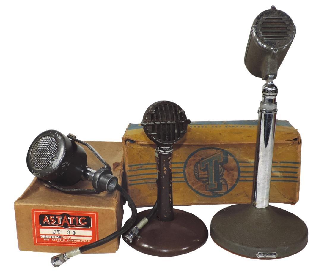 Microphones (3), Turner Dynamic Legend,  Astatic Corp