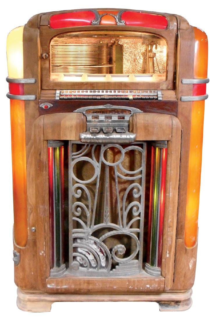 Coin-operated jukebox, Wurlitzer Model 700, c.1940's,