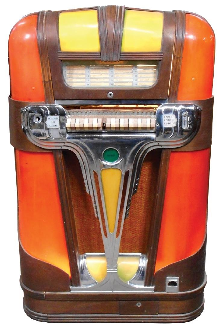 Coin-operated jukebox, Mills Empress, c.1939, solid