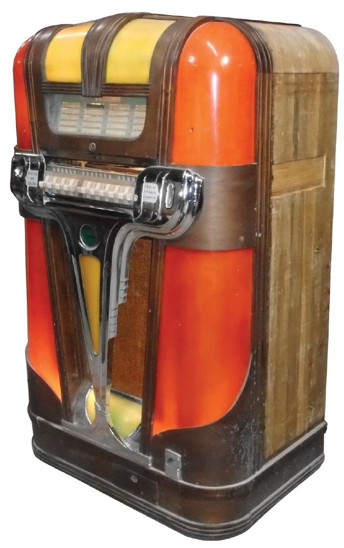 Coin-operated jukebox, Mills Empress, c.1939, solid - 2