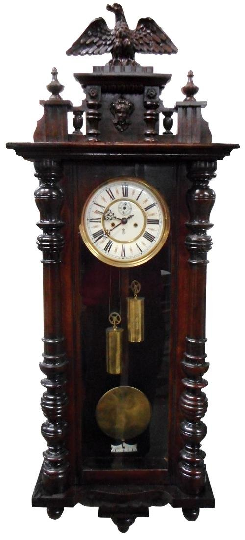 Clock, GB (Gustav Becker)-Germany, mahogany regulator