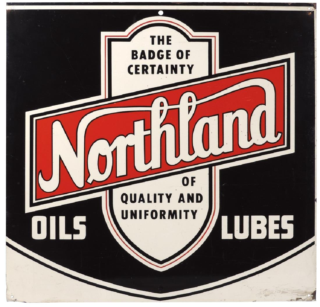Petroliana sign, Northland Oils & Lubes, single-sided