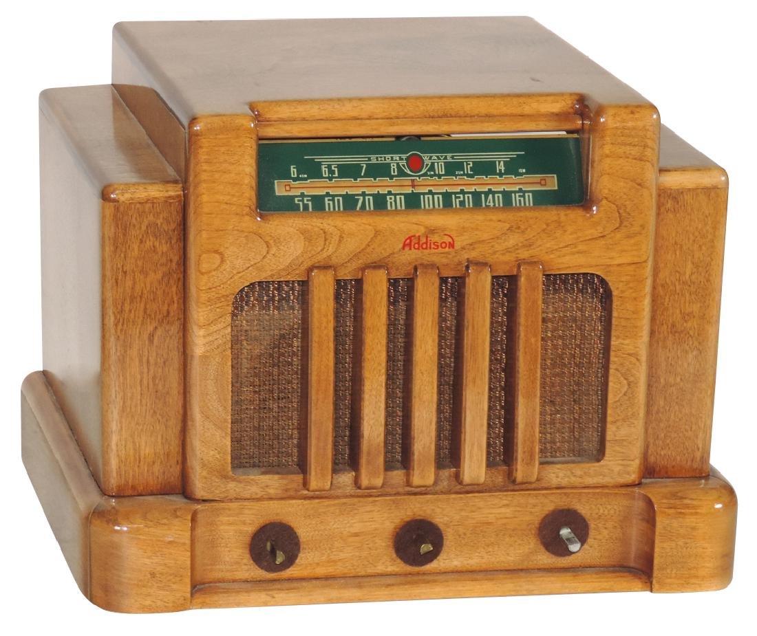 Radio, Addison, Model 5E, wood case, shortwave, missing
