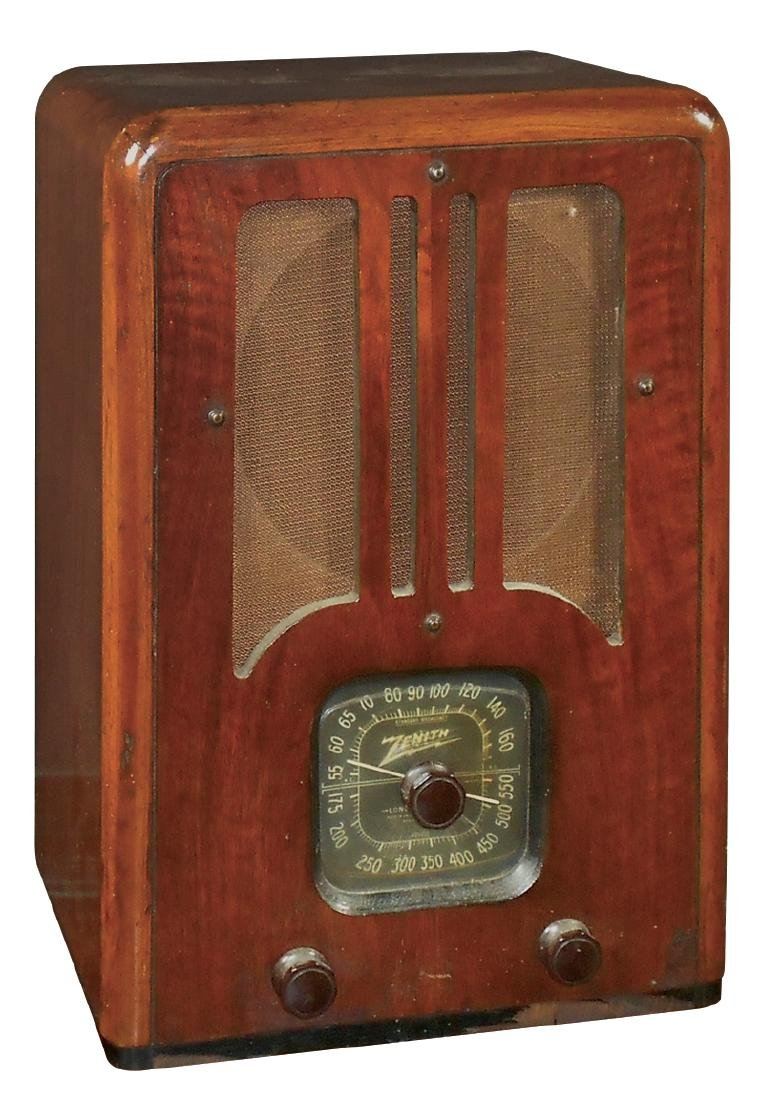 Radio, Zenith tombstone table model 5R135, c.1937,