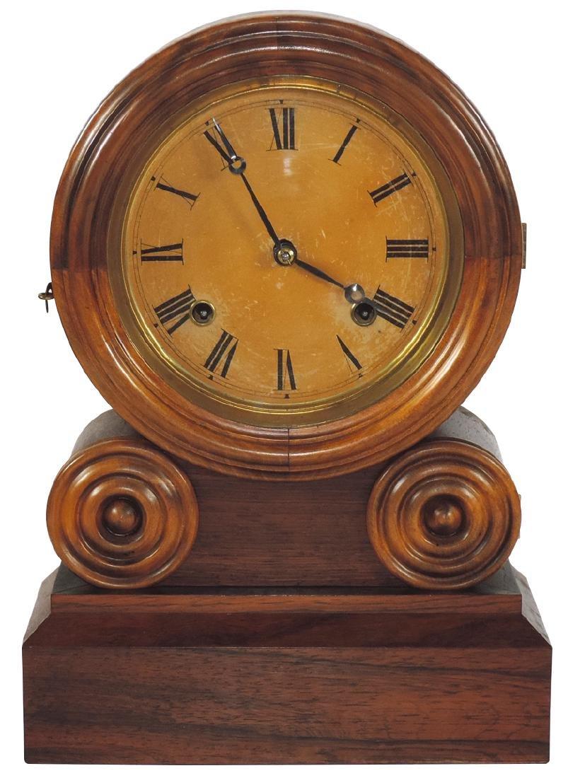 Clock, E. Ingraham Co.-Bristol, TN, Grecian mantel,