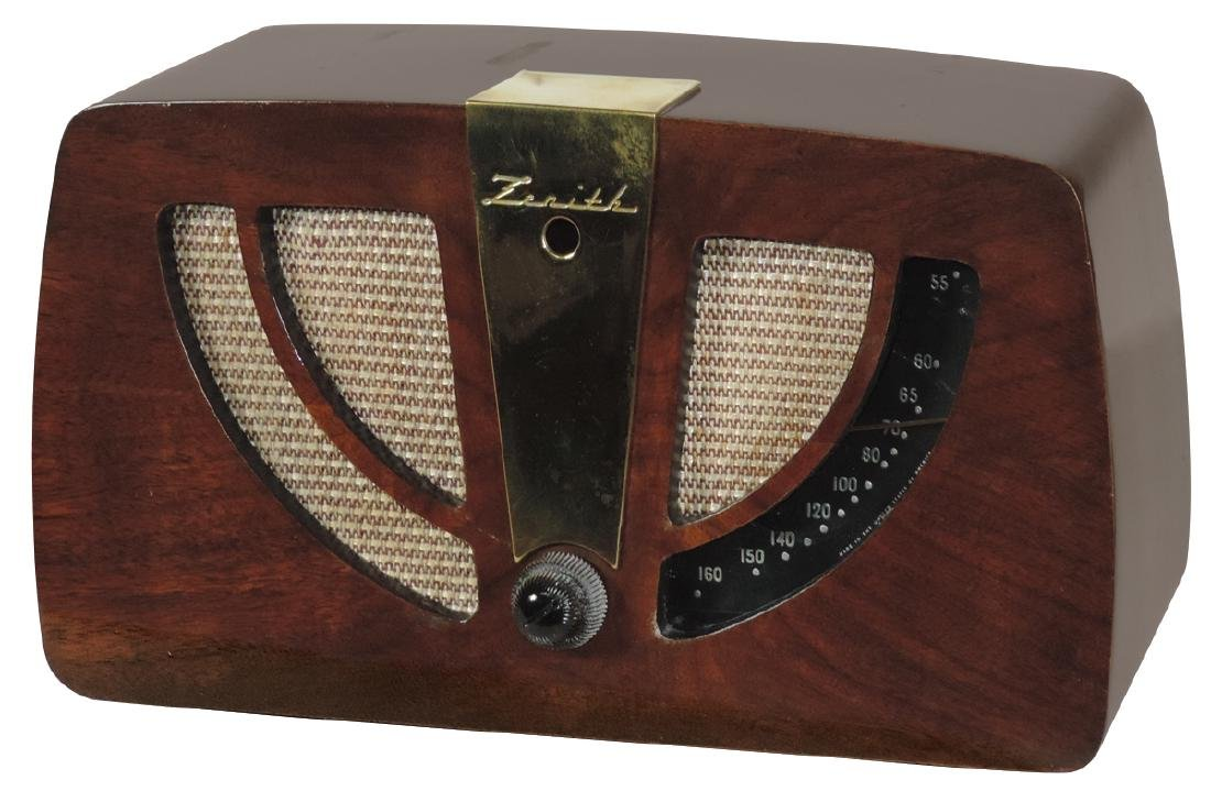 Radio, Zenith, Model 6D030, walnut w/brass nameplate,