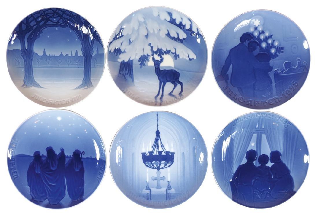 Collector plates (6), Bing and Grondahl, all Christmas,