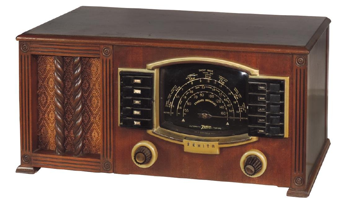 Radio, Zenith, Model 7S634, table top w/push buttons,