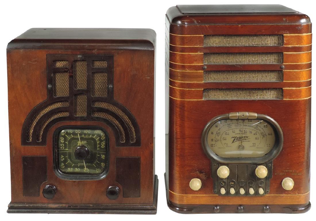 Radios (2), both Zenith Tombstones, Model 4-T-26,