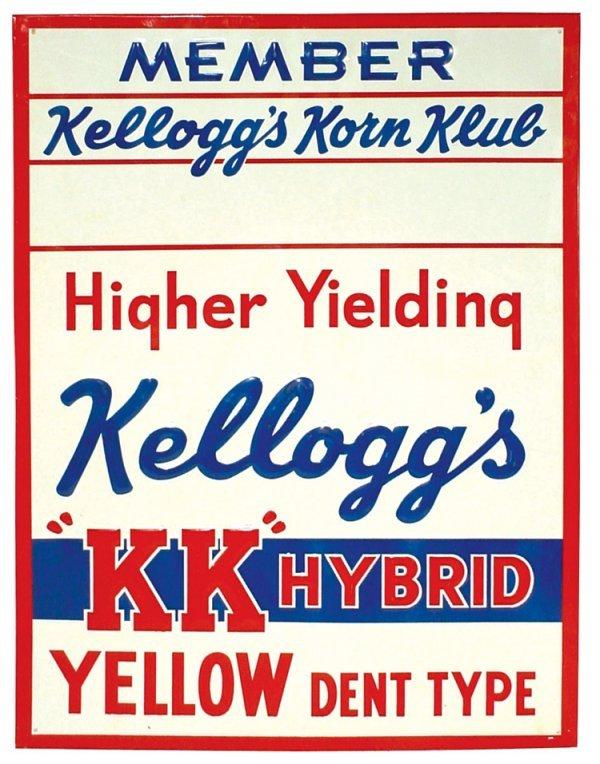 12: Seed Corn sign, Kellogg's Korn Klub Member sign, ad