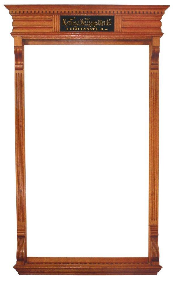 441: Billiard or pool cue rack, The National Billiard T