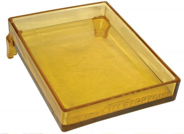 716: Clark's Teaberry Gum display, slanted amber glass